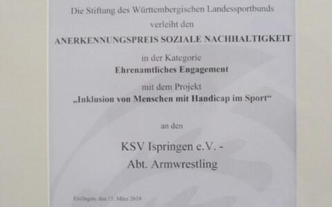 Urkunde WLSB